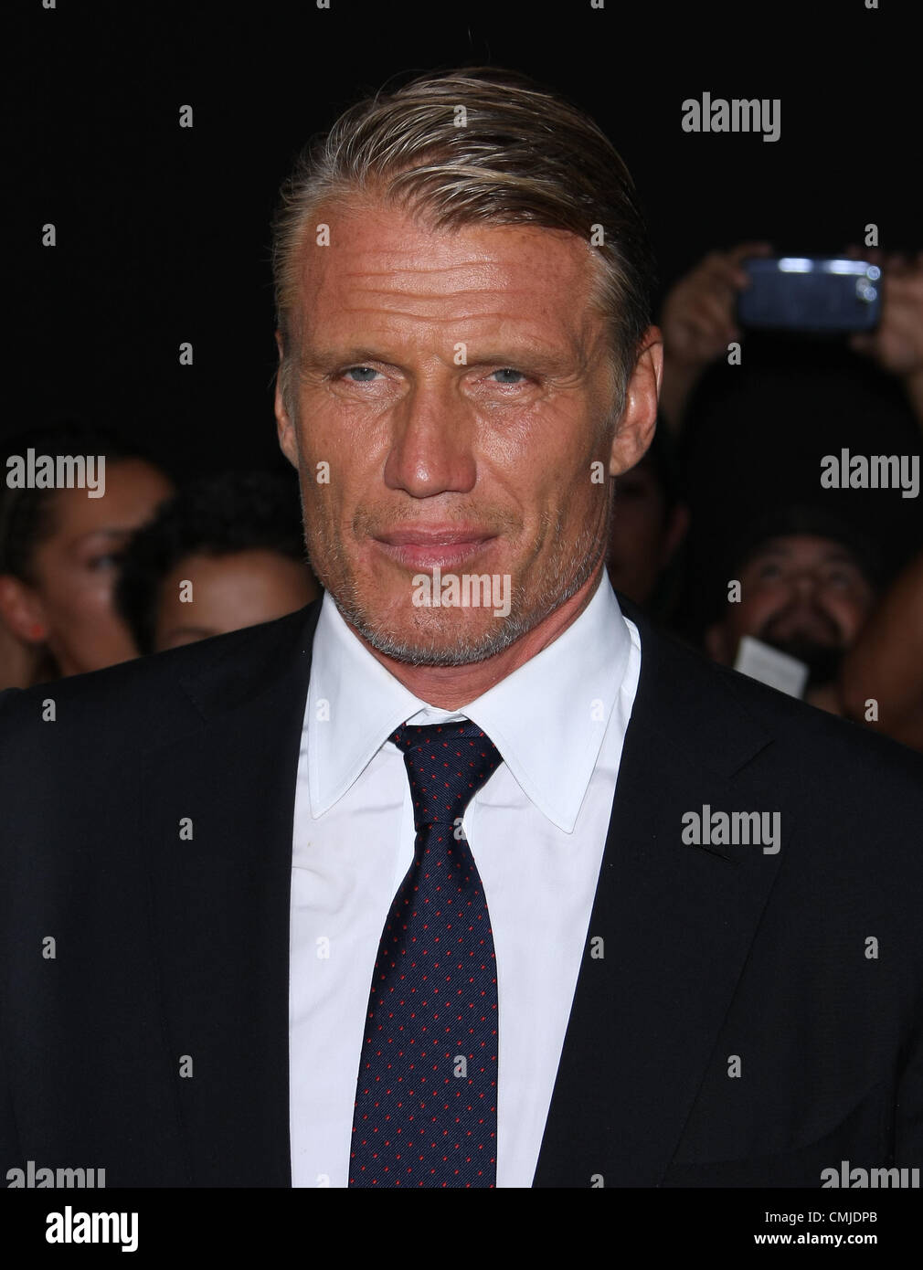 DOLPH LUNDGREN EXPENDABLES 2. WORLD PREMIERE HOLLYWOOD LOS ANGELES CALIFORNIA USA 15 August 2012 - Stock Image