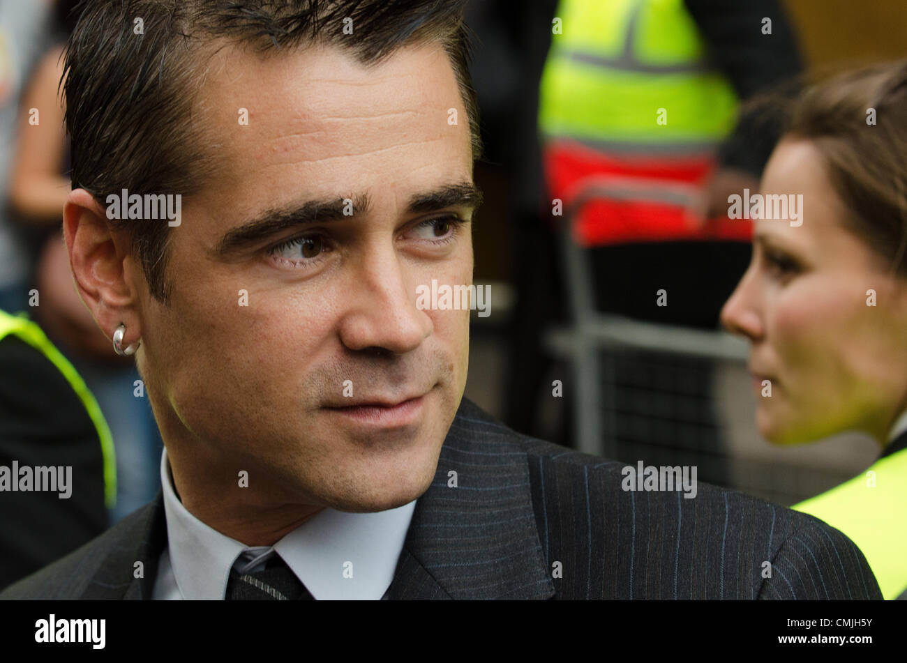 16th Aug 2012. Colin Farrell at Total Recall Premiere Leicester Square on Thursday 16th August 2012 Credit:  Prixnews - Stock Image