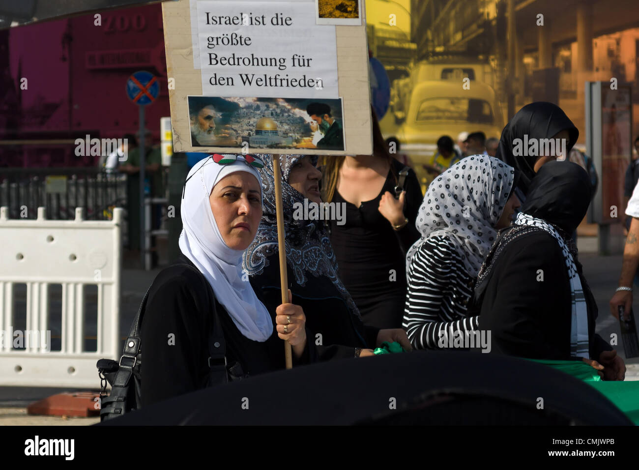 Al-Quds Day. Demonstrations against Israel, and its control of Jerusalem - Stock Image
