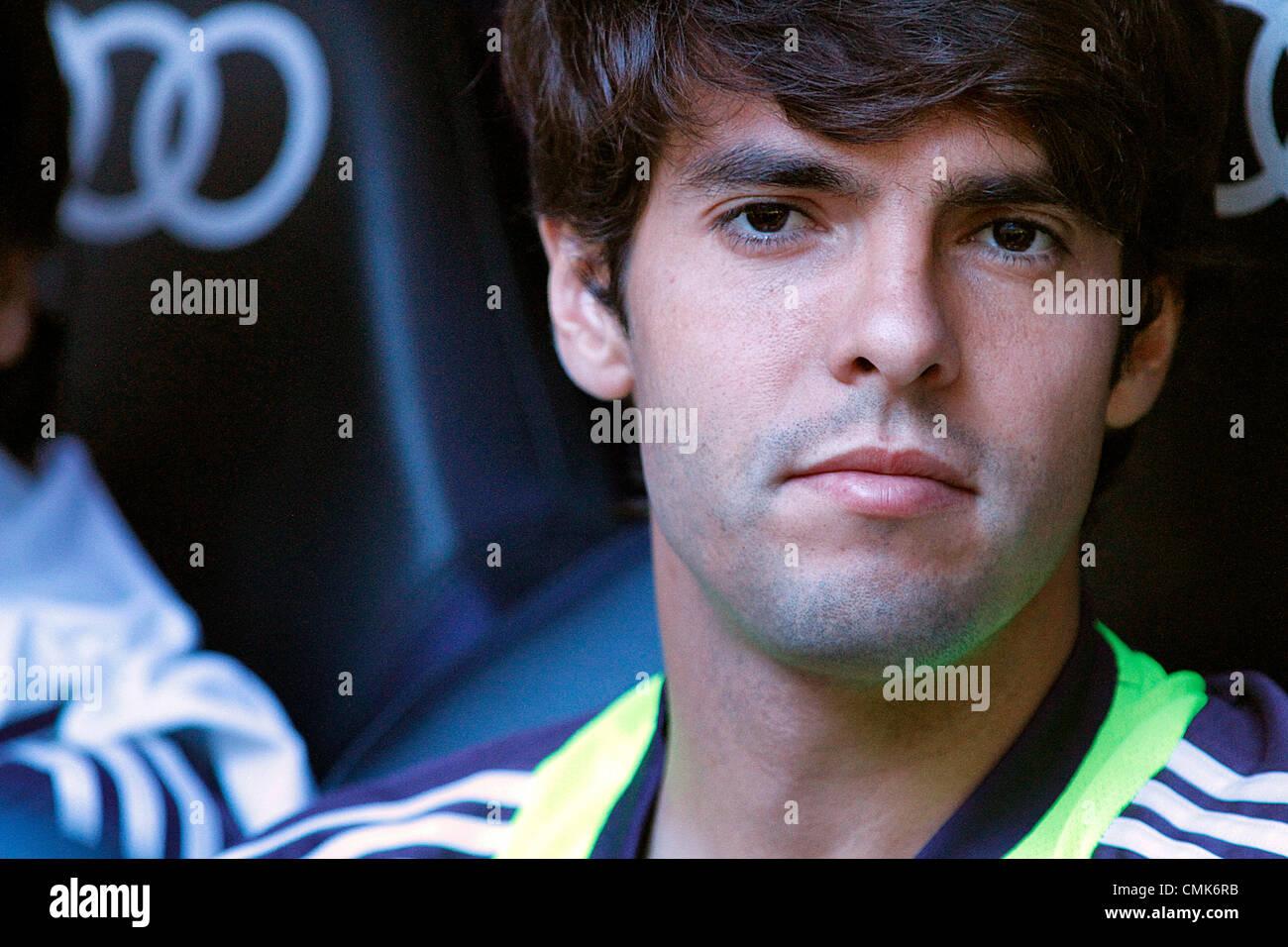19.08.2012 Madrid, Spain. La Liga Football Real Madrid vs. Valencia CF - Kaka portrait - Stock Image