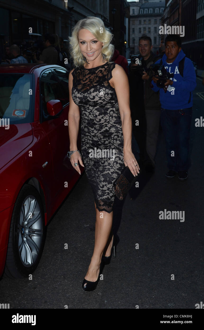 21st August 2012. Kristina Rihanoff arrives at Jessica Wright & Lipstick Boutique Launch Party, London, UK. - Stock Image