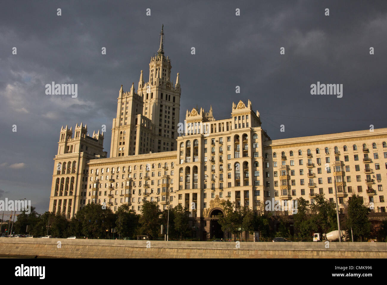Aug. 12, 2012 - Moscow, Russia - Stalinist architecture (Stalin's Empire style or Stalin's Neo-renaissance), also Stock Photo