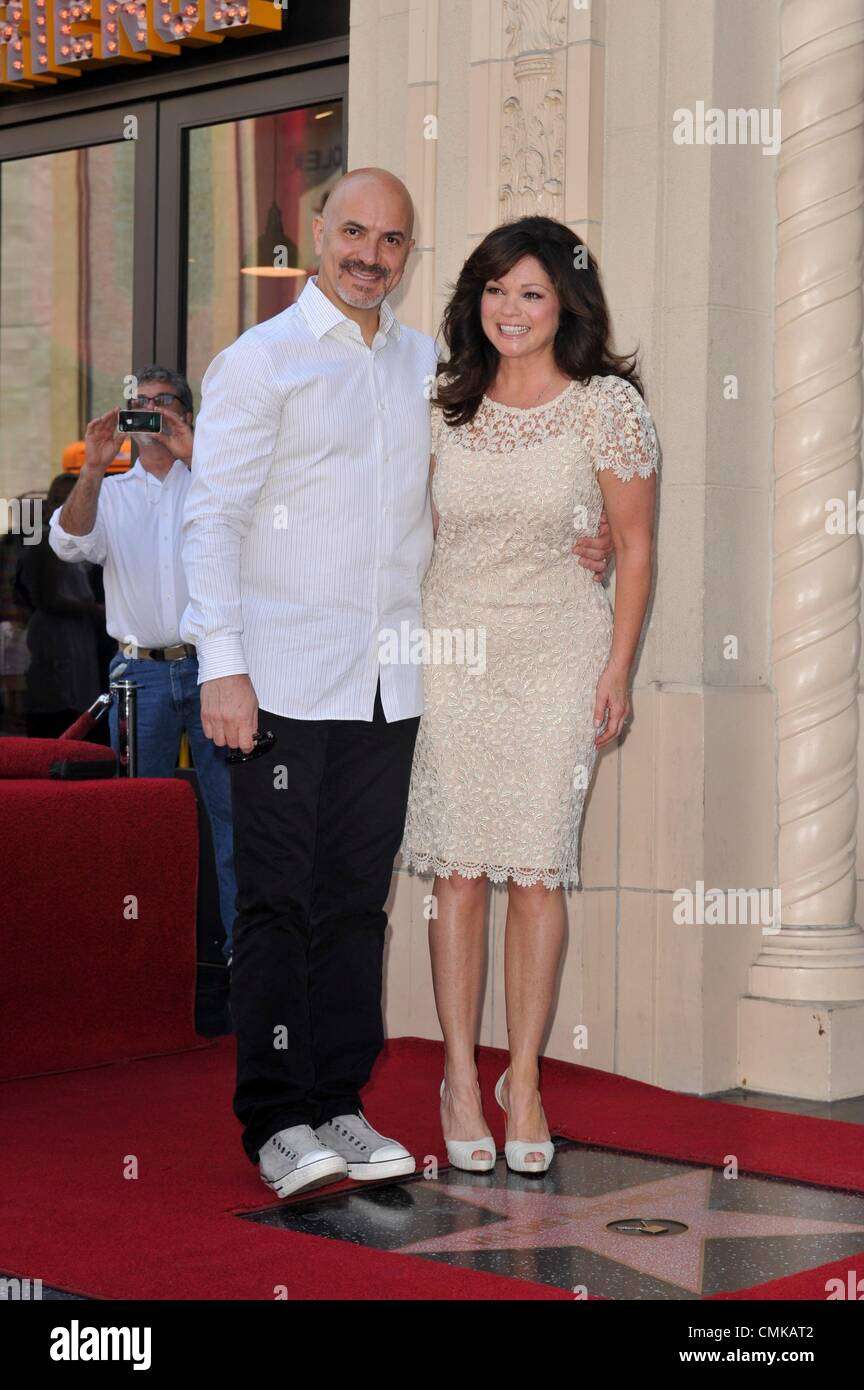 2557c93c4a Tom Vitale and Valerie Bertinelli at the induction ceremony for the Star on  the Hollywood Walk