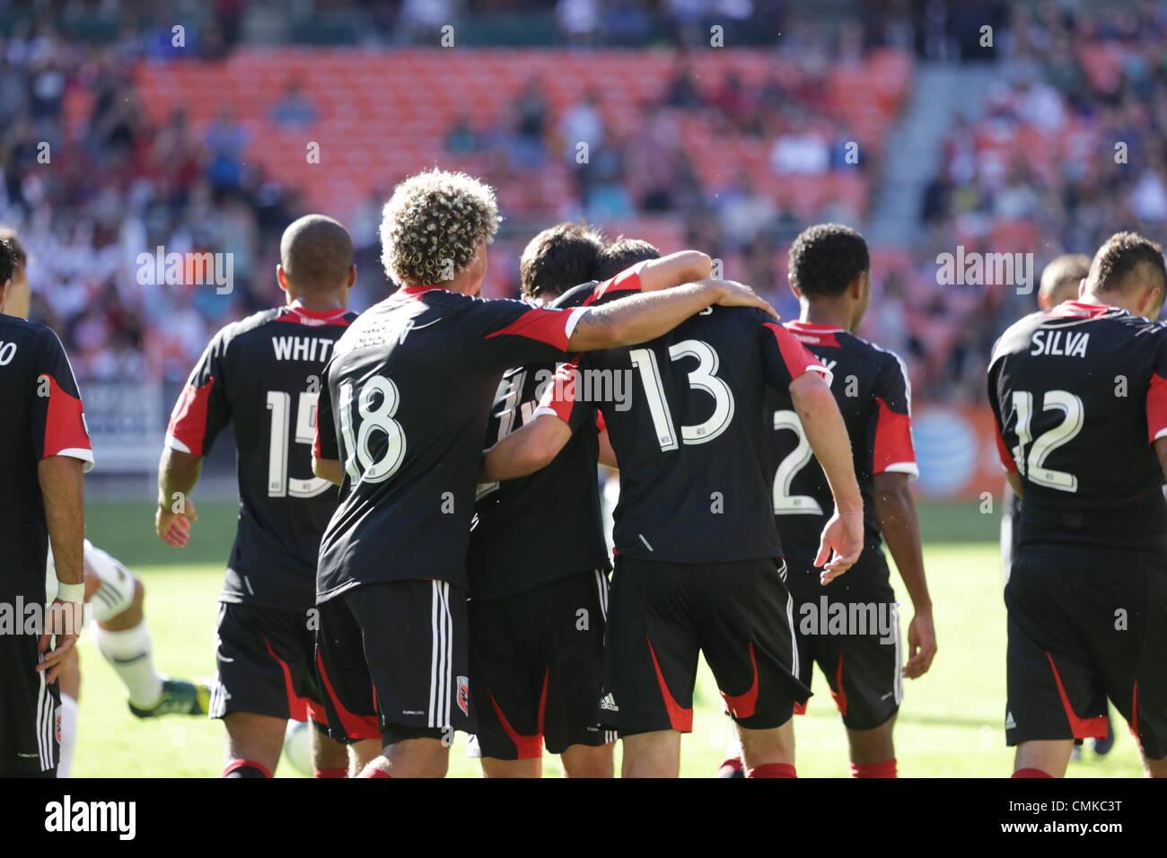September 14, 2013, Washington D.C, DC United hosts LA Galaxy at RFK. DC United ties LA Galaxy 2-2. Pontius celebrates - Stock Image