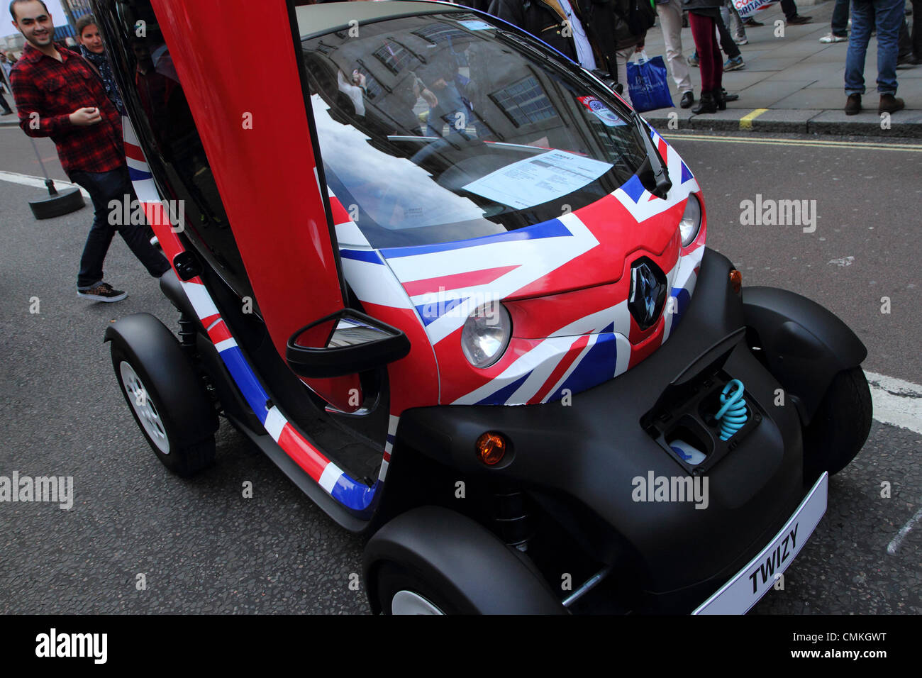 The Renault Twizy  electric vehicle, Regent street open air motor show 2013, London, UK - Stock Image