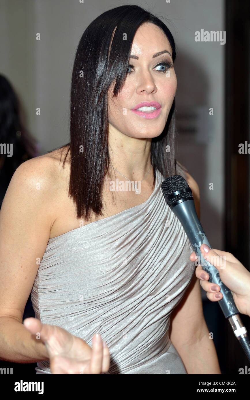 London UK 2nd Nov 2013 : Linzi Stoppard arrives at the 2nd Annual MyFaceMyBody Beauty Awards held at the Lancaster - Stock Image