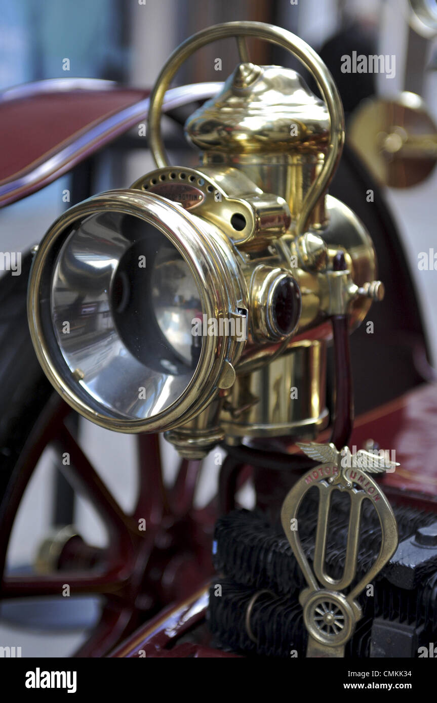 Carbide Car Headlights : Brass headlight stock photos