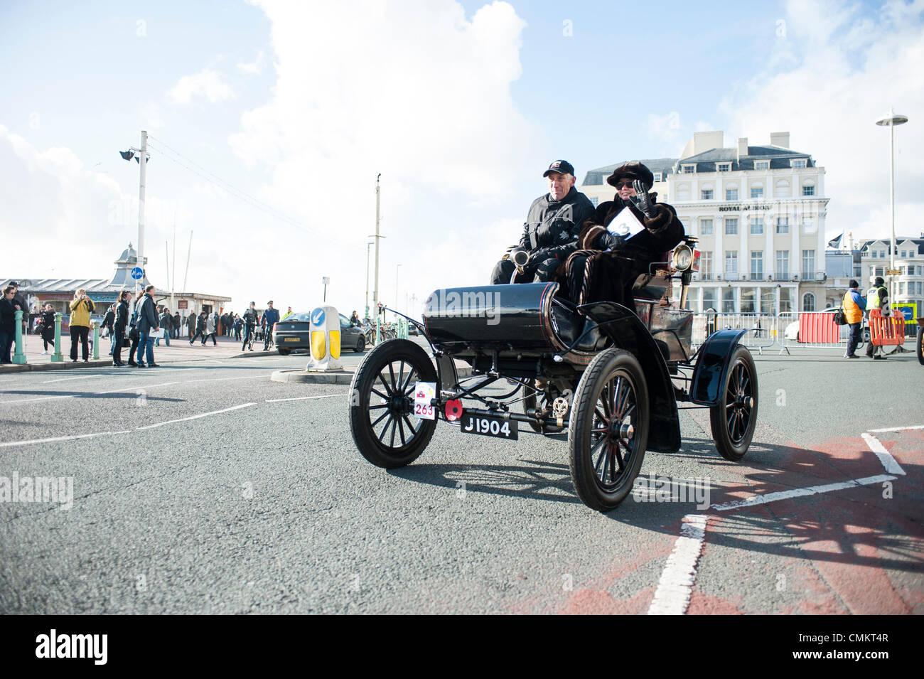 Brighton, UK. 3rd Nov, 2013. London to Brighton Veteran Car Run 2013 ...