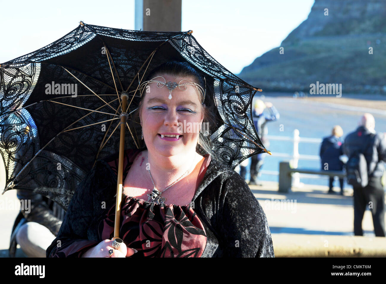 Whitby, UK. 3rd Nov, 2013. Goths at Whitby Goth Weekend Sunday 03/11/2013. Founded by Jo Hampshire in 1994, the - Stock Image