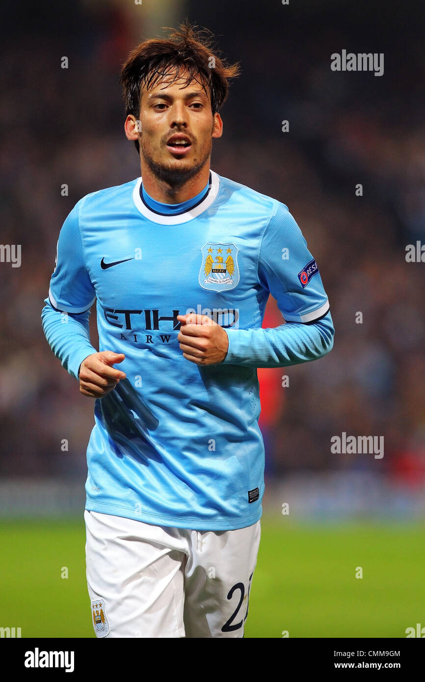 d95d0bc3a2c A profile of David Silva of Manchester City during the Champions League  group D game between Manchester City and CSKA Moscow from the City of  Manchester ...