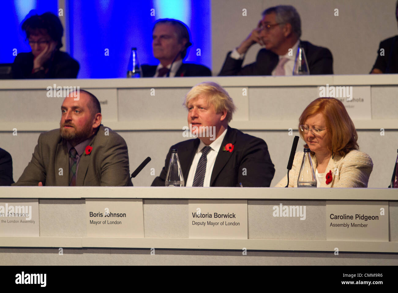 South Kensington London, UK.  London Mayor Boris Johnson attends People's Question time at Imperial college - Stock Image