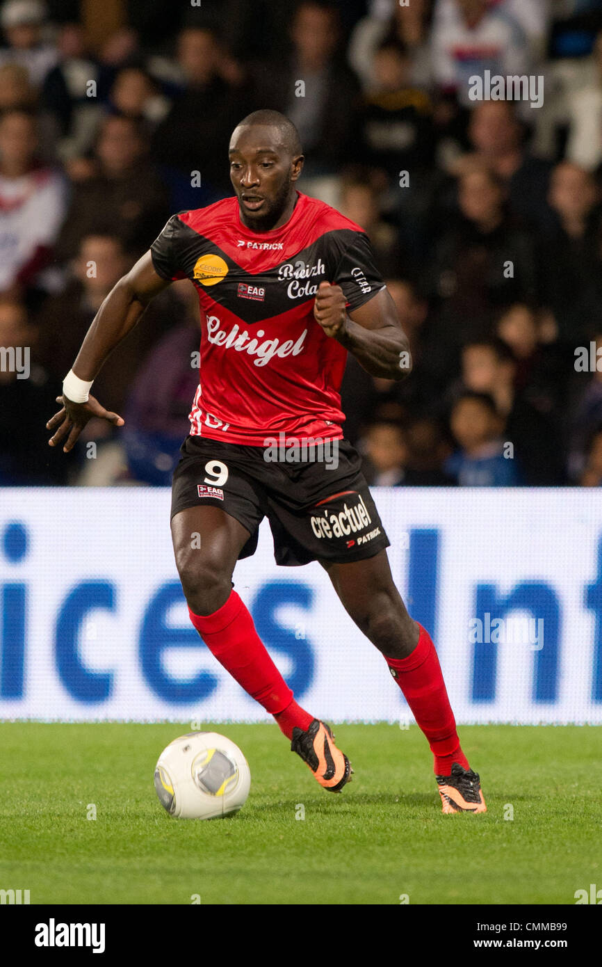 "Lyon, France. 2nd Nov, 2013. Mustapha Yatabare (Guingamp) Football / Soccer : French ""Ligue 1"" match between Lyon Stock Photo"