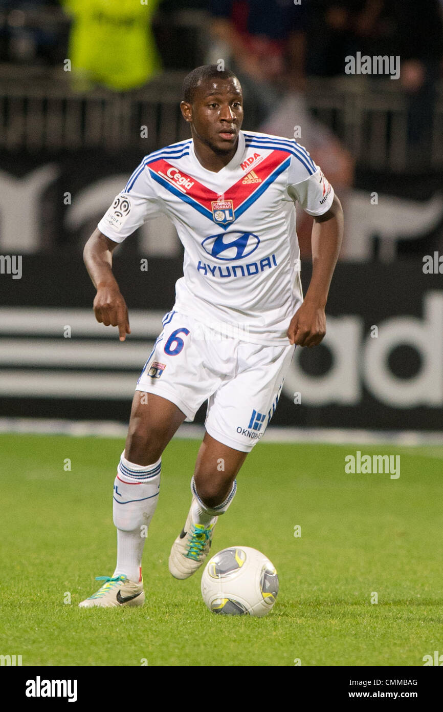"Lyon, France. 2nd Nov, 2013. Gueida Fofana (Lyon) Football / Soccer : French ""Ligue 1"" match between Lyon 2-0 EA Stock Photo"