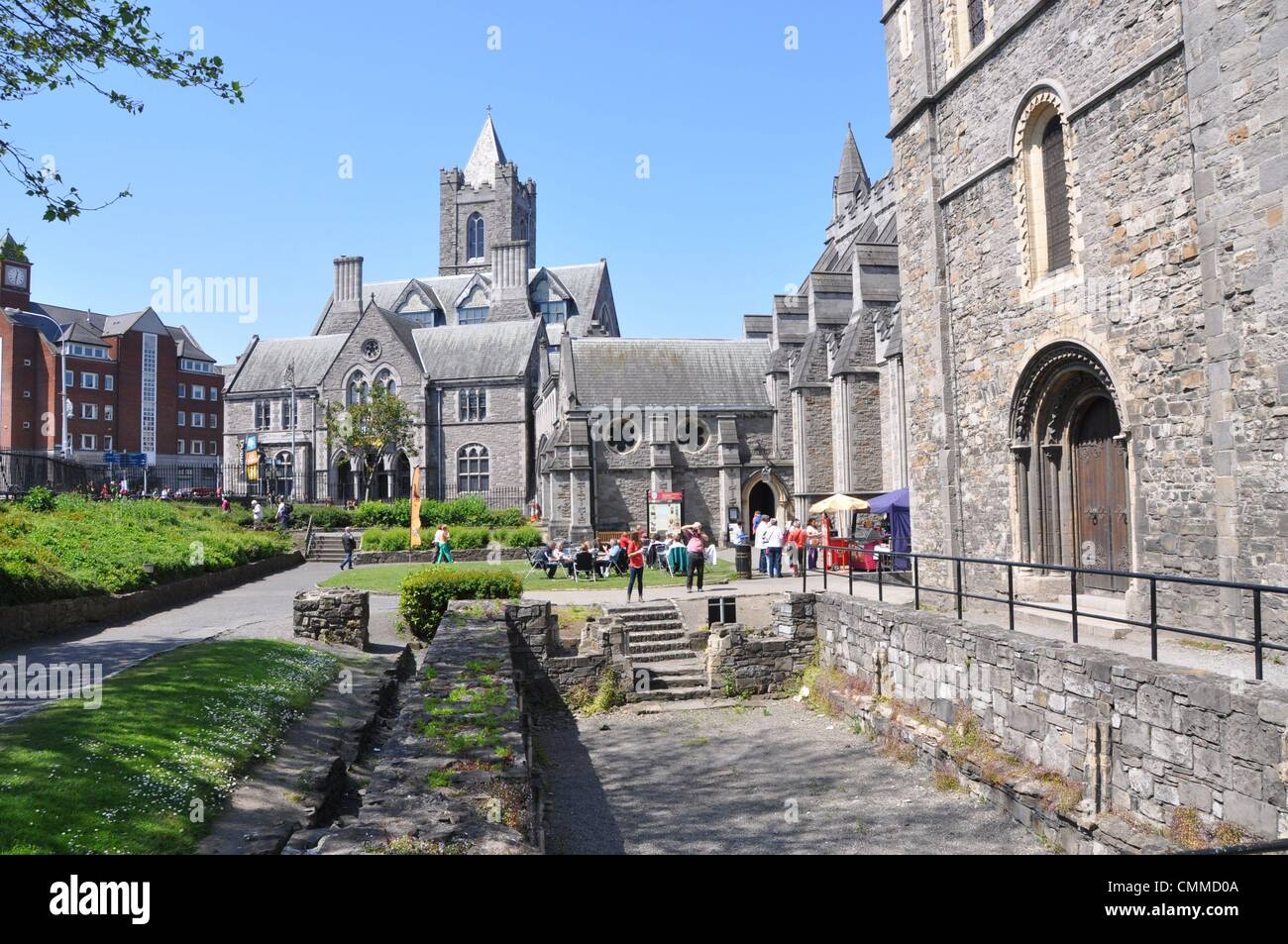 Christ Church Cathedral - also named The Cathedral of the Holy Trinity - is one of the oldest buildings in the city - Stock Image