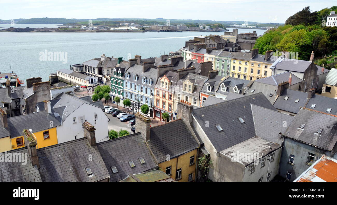The market-place of Cobh formerly known as Queenstown, photo taken May 25, 2013. Cobh was the most important port - Stock Image