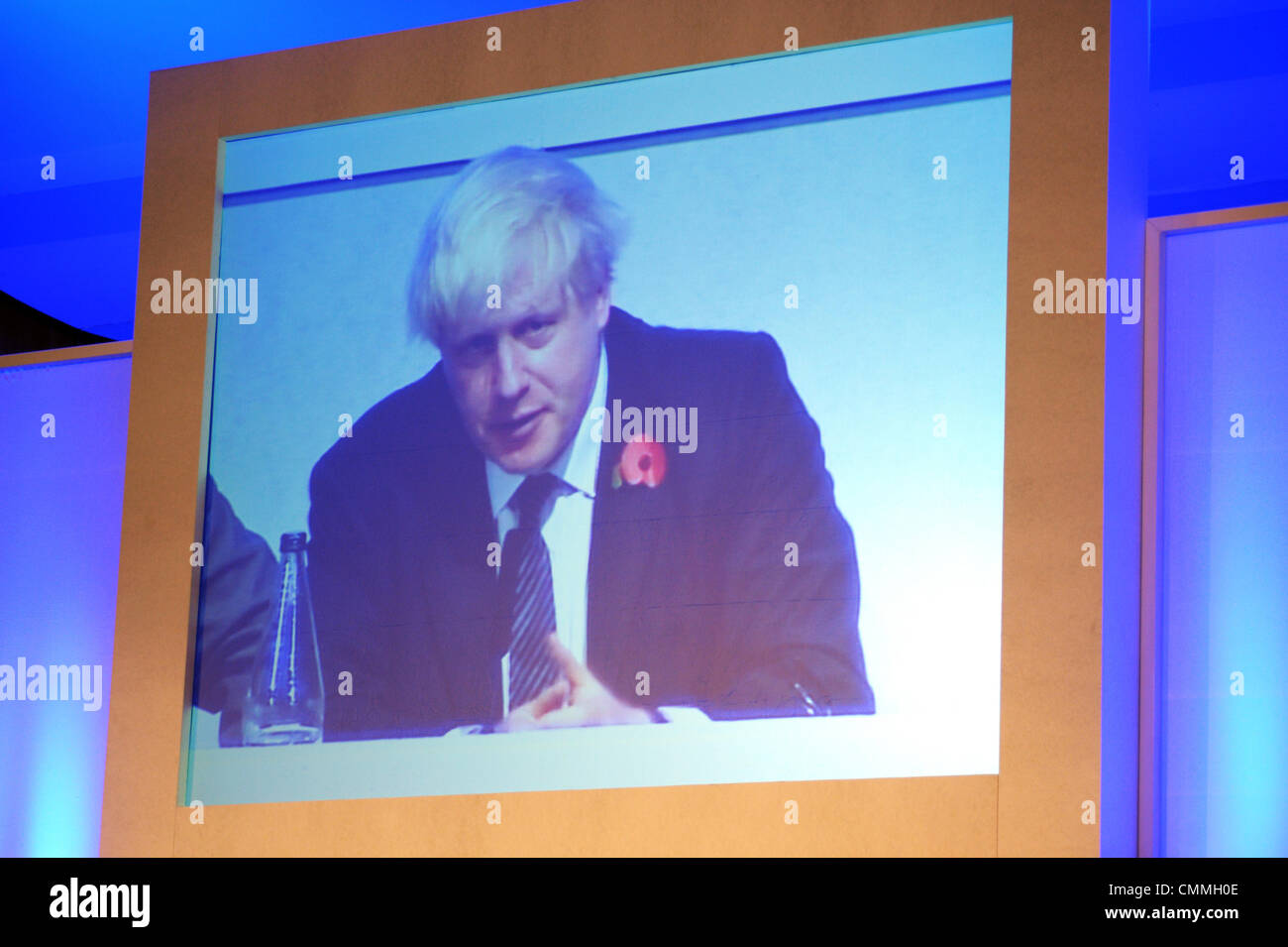 London, UK. 5th November 2013. Boris Johnson meets the Londoners at People's Question Time held at Imperial - Stock Image