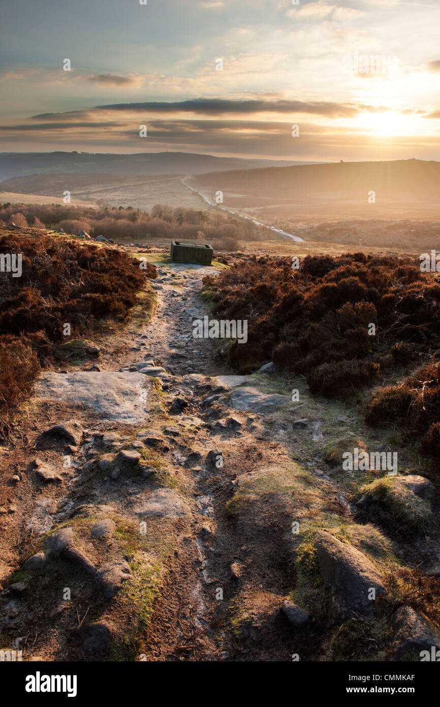 Southerly end Burbage Edge in Derbyshire England - Stock Image