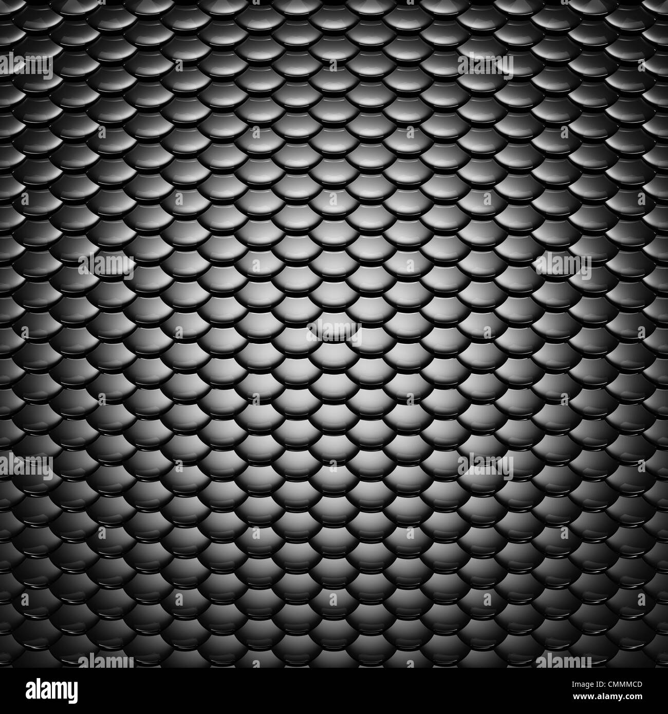 Metallic scales pattern , dramatic lighting - Stock Image