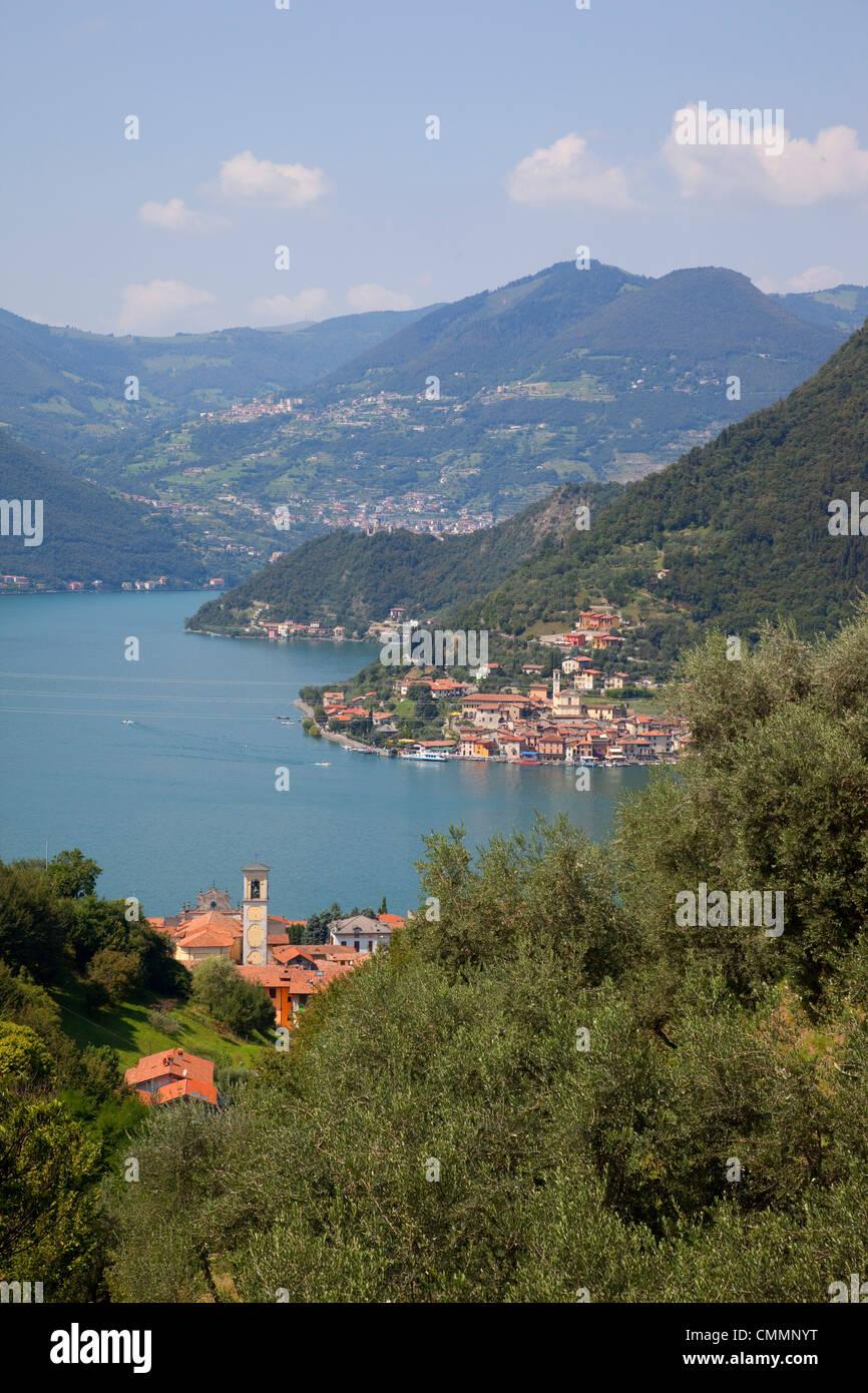 Lake Iseo, Lombardy, Italian Lakes, Italy, Europe - Stock Image