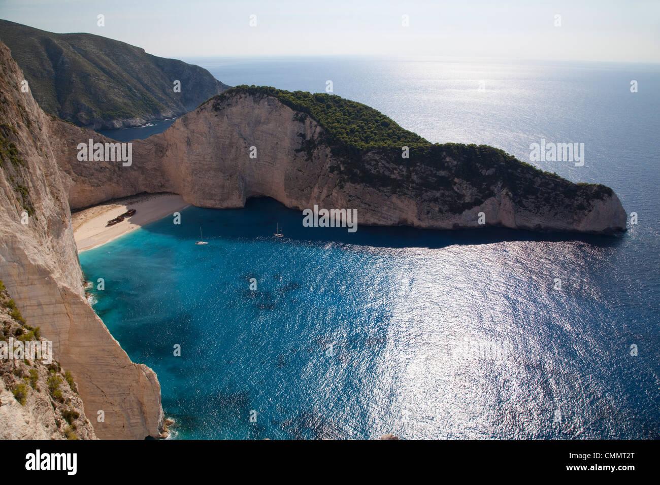 Shipwreck Bay, Zakynthos, Ionian Islands, Greek Islands, Greece, Europe - Stock Image