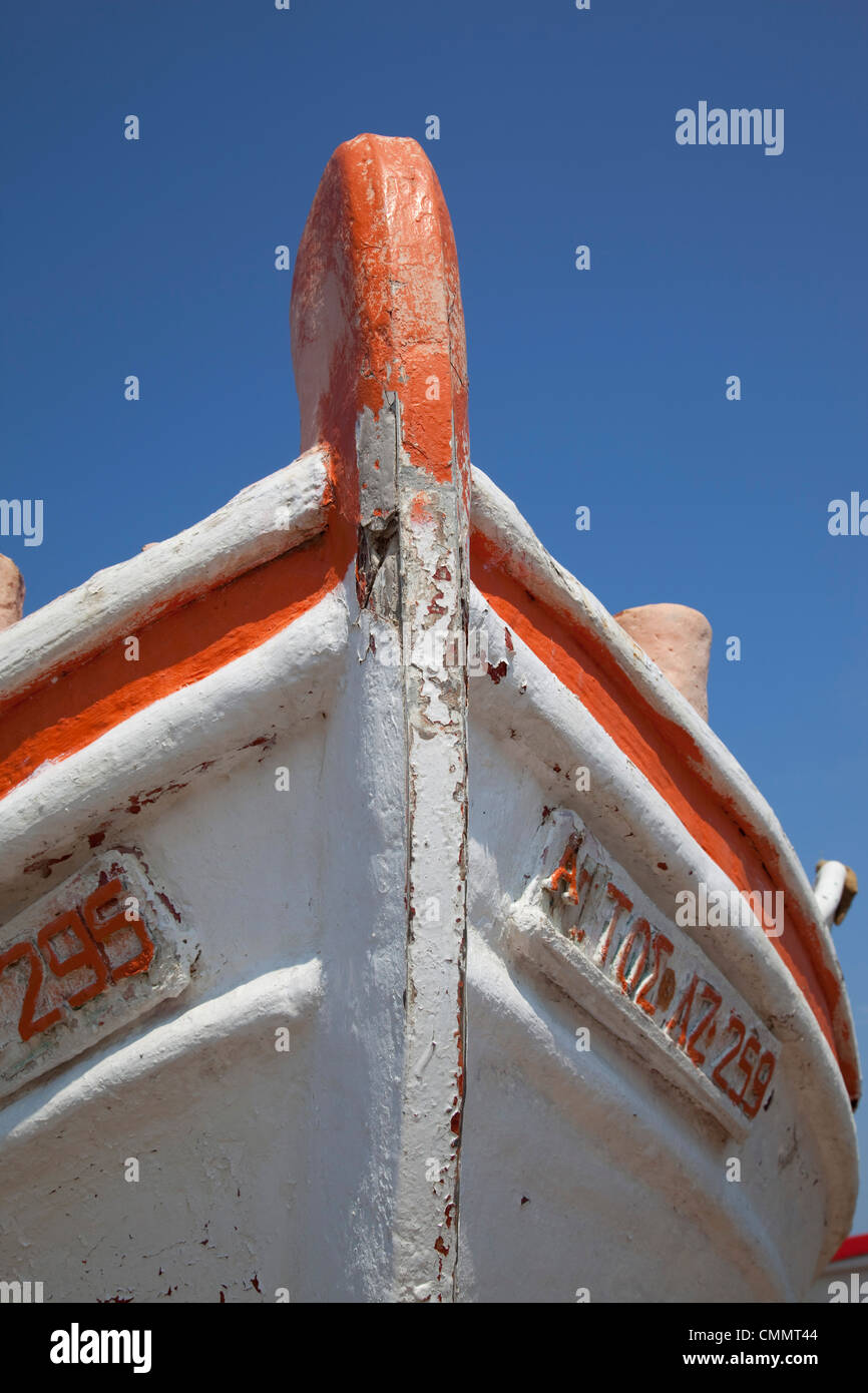Fishing boat, Laganas, Zakynthos, Ionian Islands, Greek Islands, Greece, Europe - Stock Image