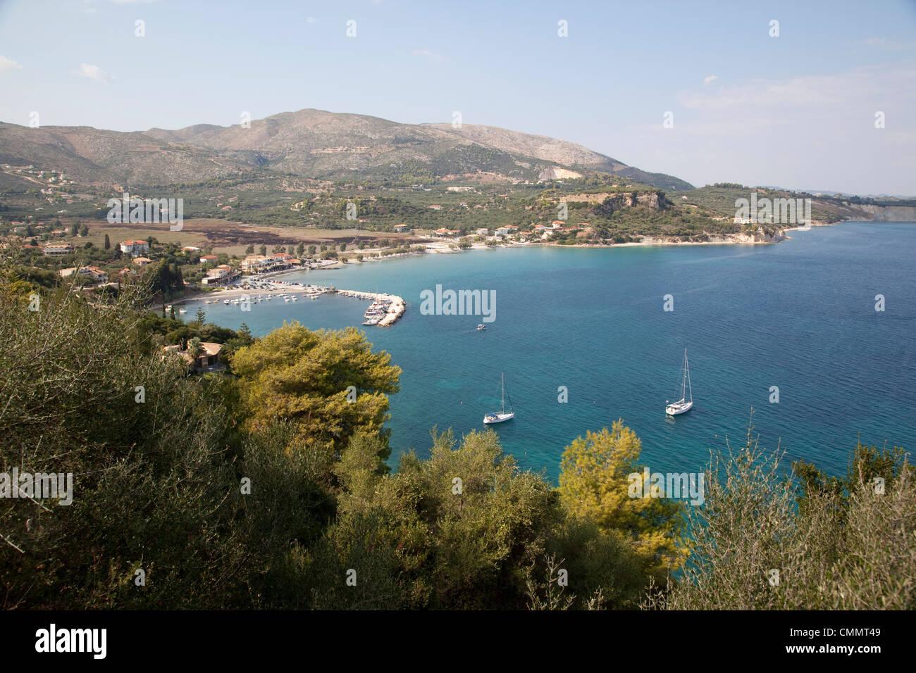 Keri Peninsula, Zakynthos, Ionian Islands, Greek Islands, Greece, Europe - Stock Image