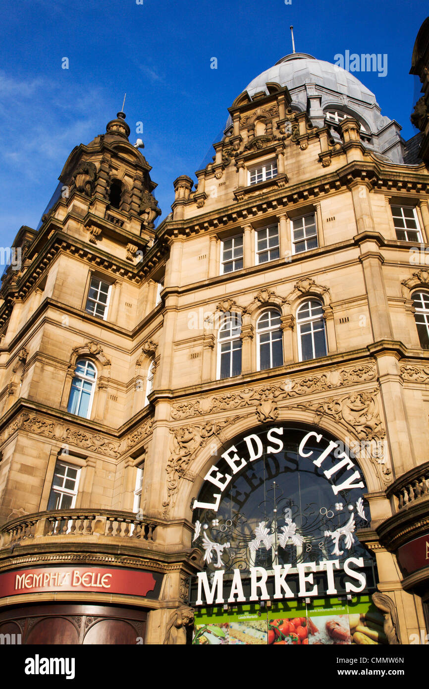 Leeds City Markets, Leeds, West Yorkshire, Yorkshire, England, United Kingdom, Europe - Stock Image