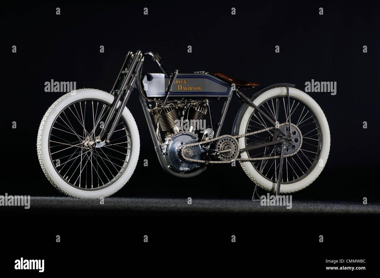 1914 Harley Davidson boardtrack racer - Stock Image