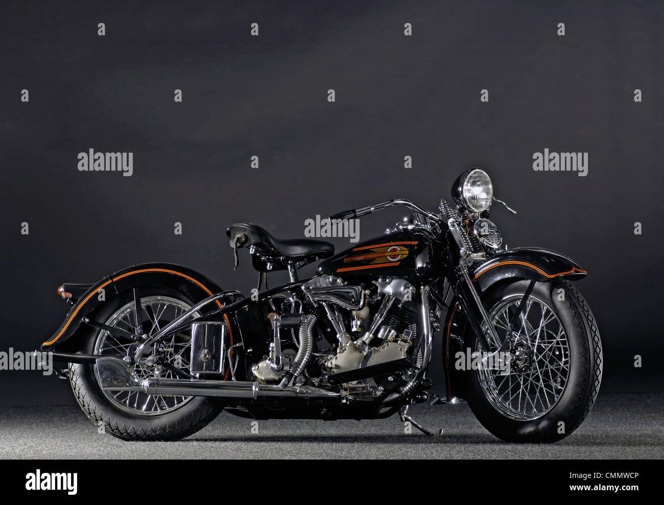 1937 Harley Davidson ELS Knucklehead - Stock Image