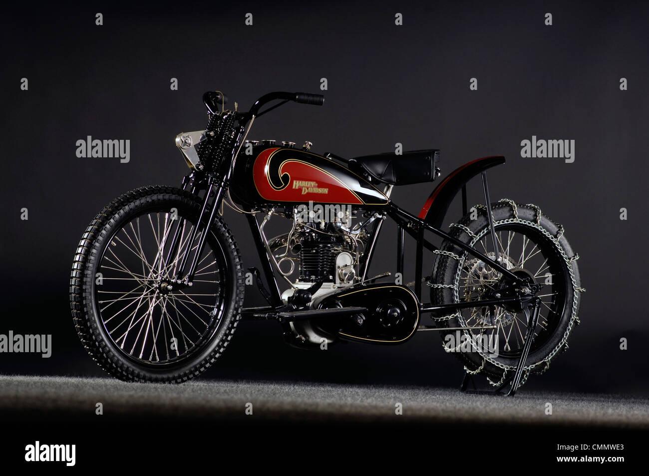 1930 Harley Davidson OHV Peashooter - Stock Image