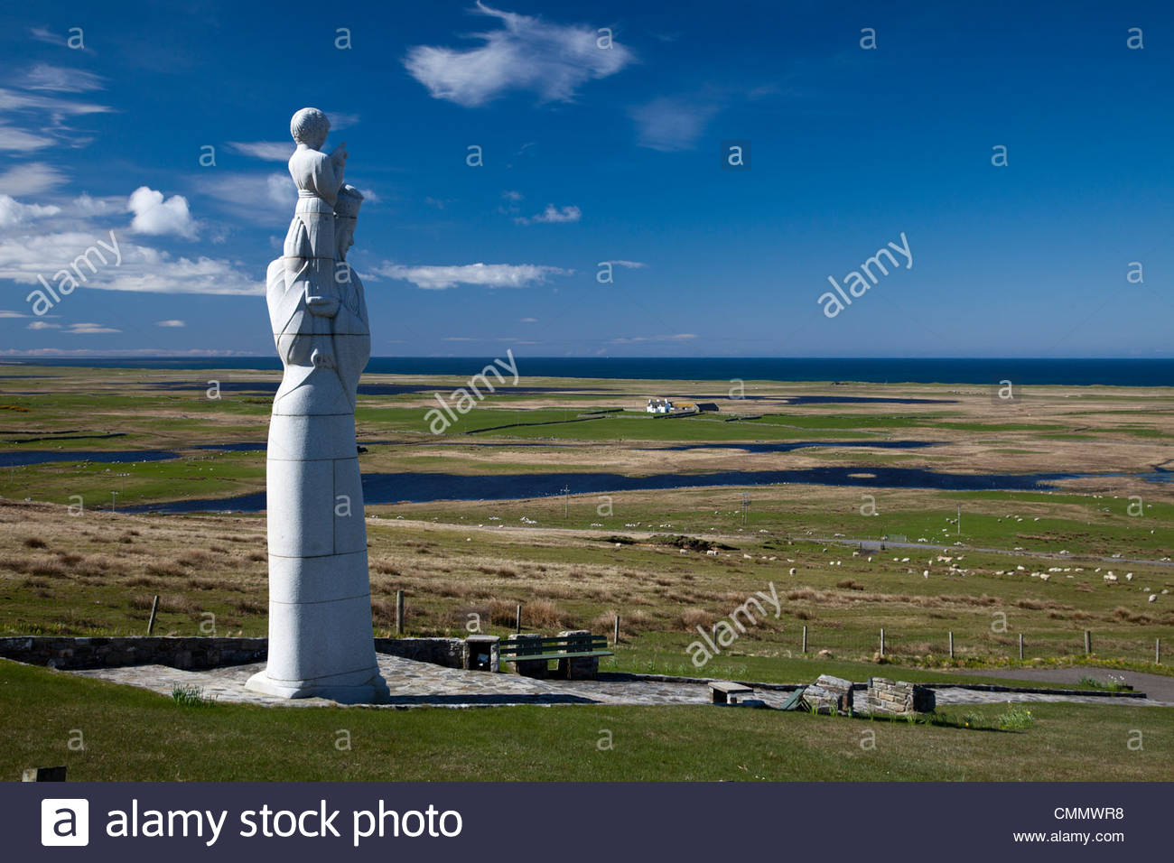 Statue of Our Lady of the Isles, Isle of South Uist, Outer Hebrides Scotland UK - Stock Image