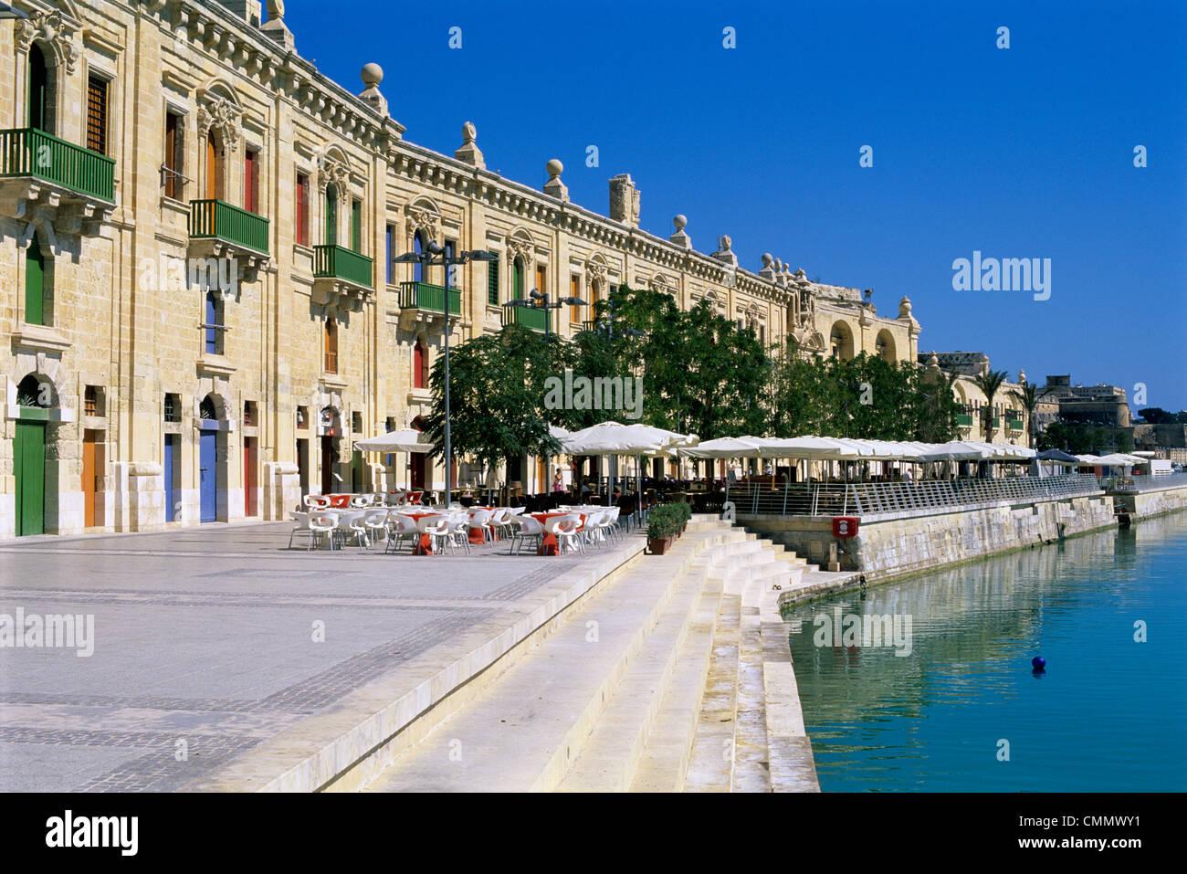 Valletta Waterfront, Valletta, Malta, Mediterranean, Europe - Stock Image