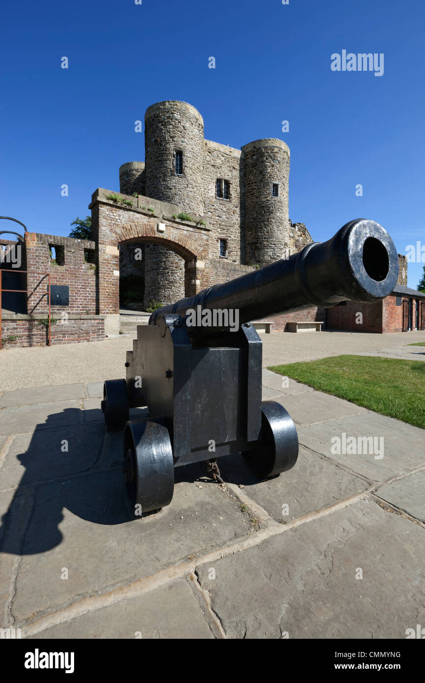 Ypres Tower, Rye, East Sussex, England, United Kingdom, Europe - Stock Image