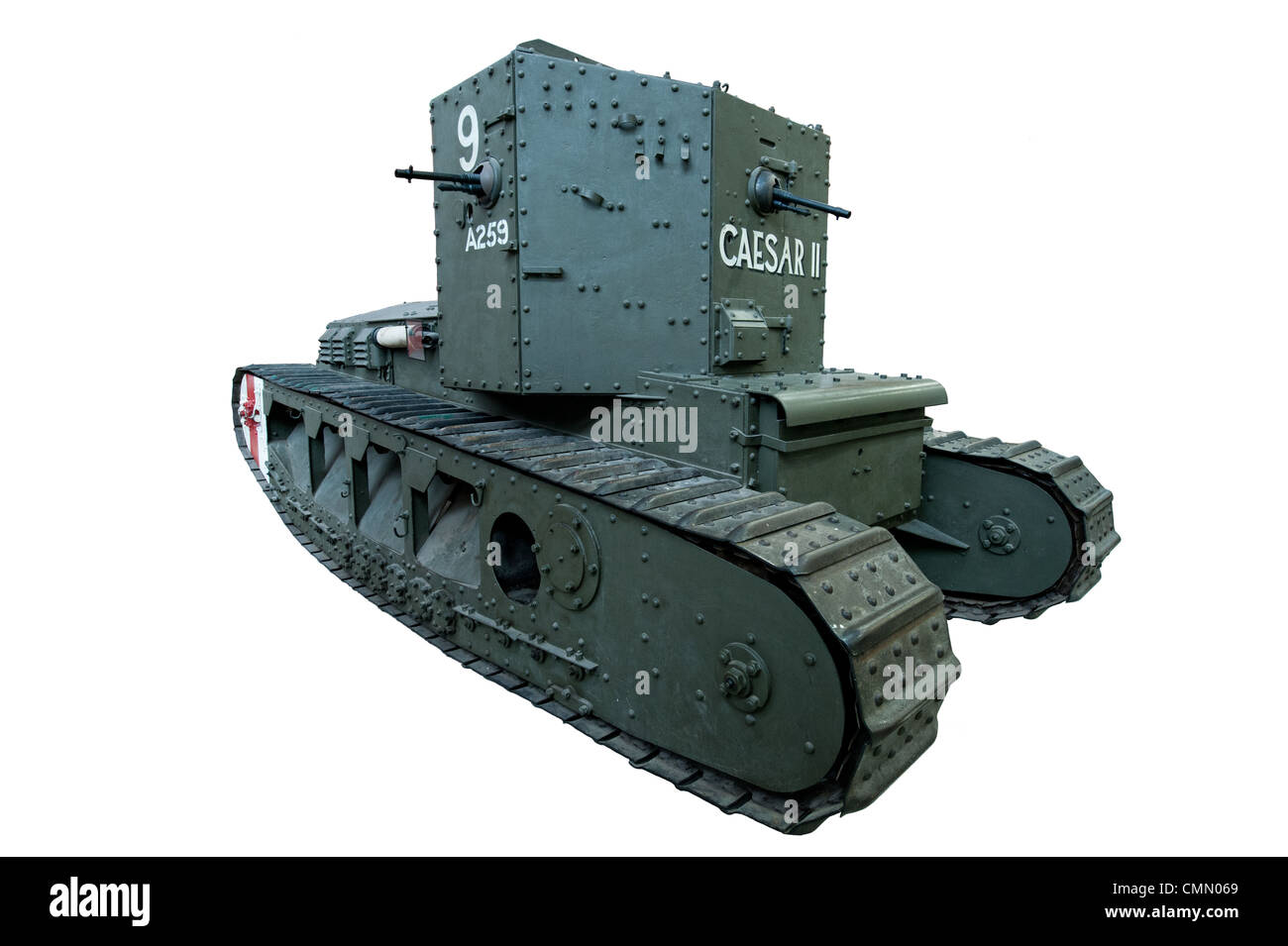 Medium Mk A (Whippet) WW1 Tank, also known as the Tritton Chaser cut out used by British armed forces during the - Stock Image