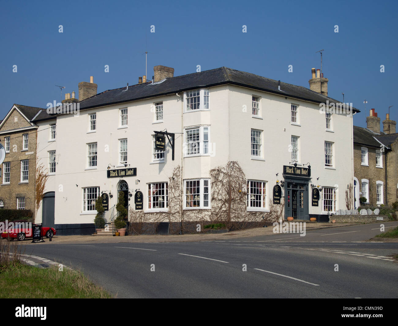 The Black Lion restaurant in Long Melford, Suffolk, England. - Stock Image