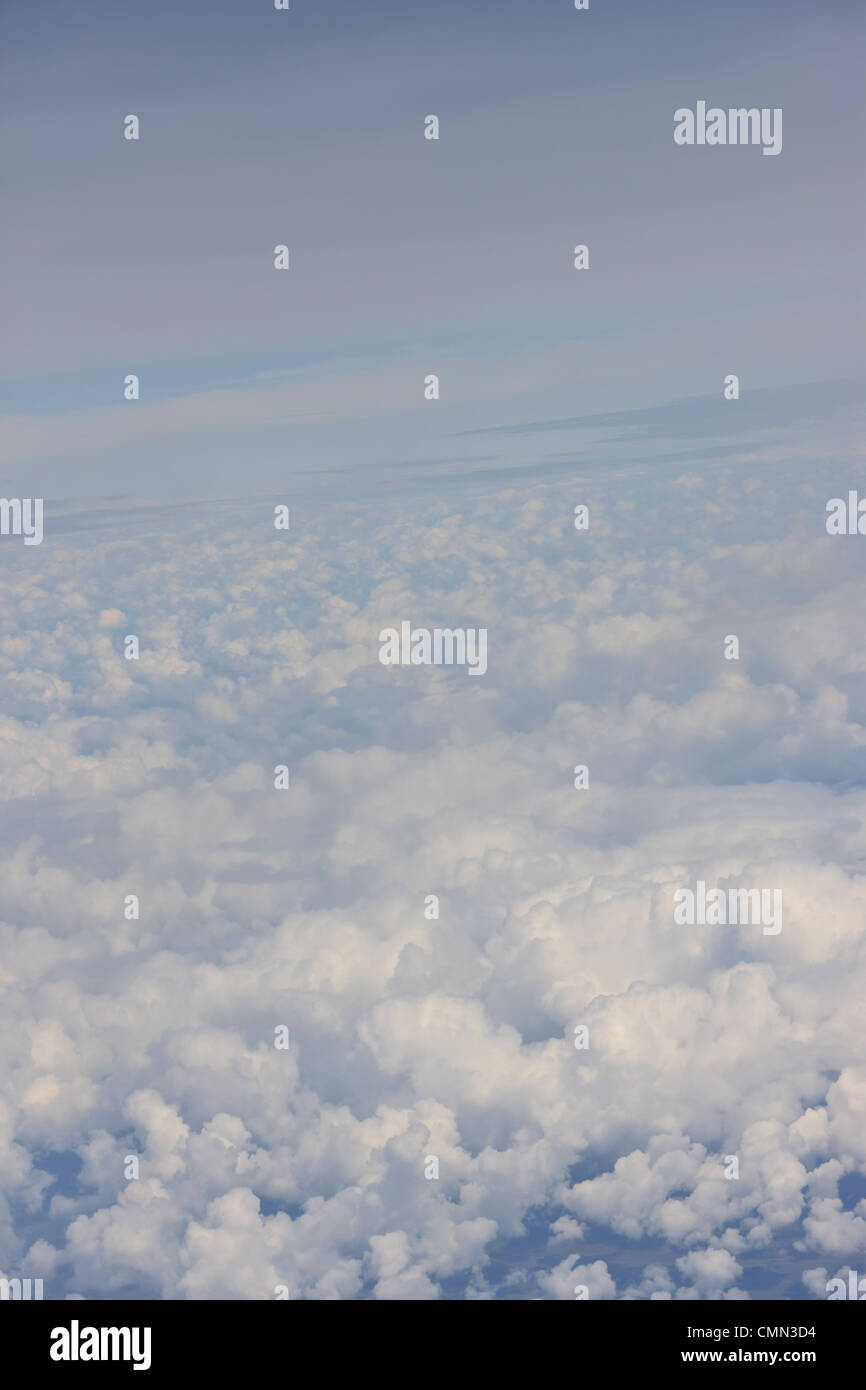 Clouds from 30000 feets between Recife and Sao Paulo, Brazil - Stock Image