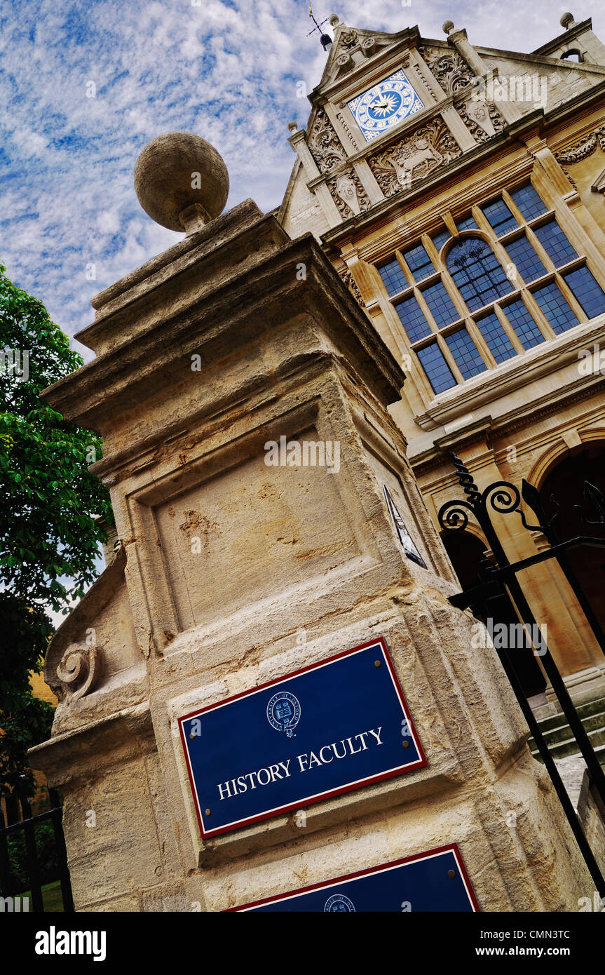 Oxford University, History Faculty, Oxford. United Kingdom, - Stock Image