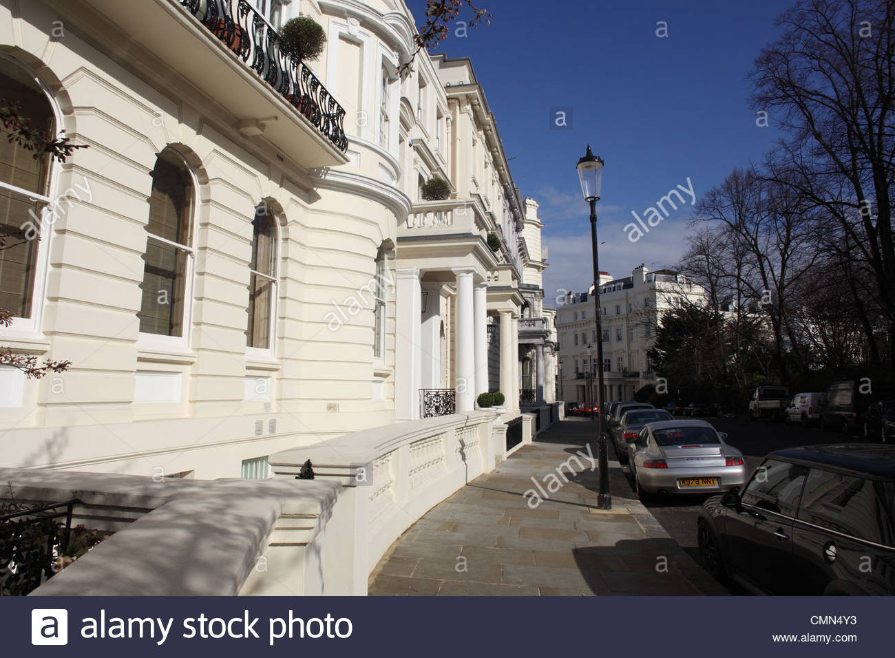 A side view row town house in London - Stock Image