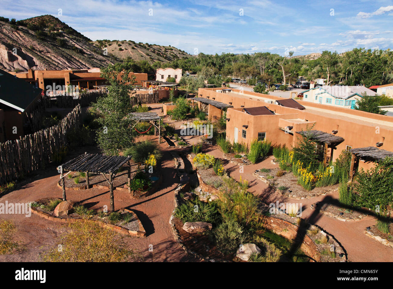 Ojo Caliente, New Mexico, United States. Mineral Springs and spa. (PR) - Stock Image
