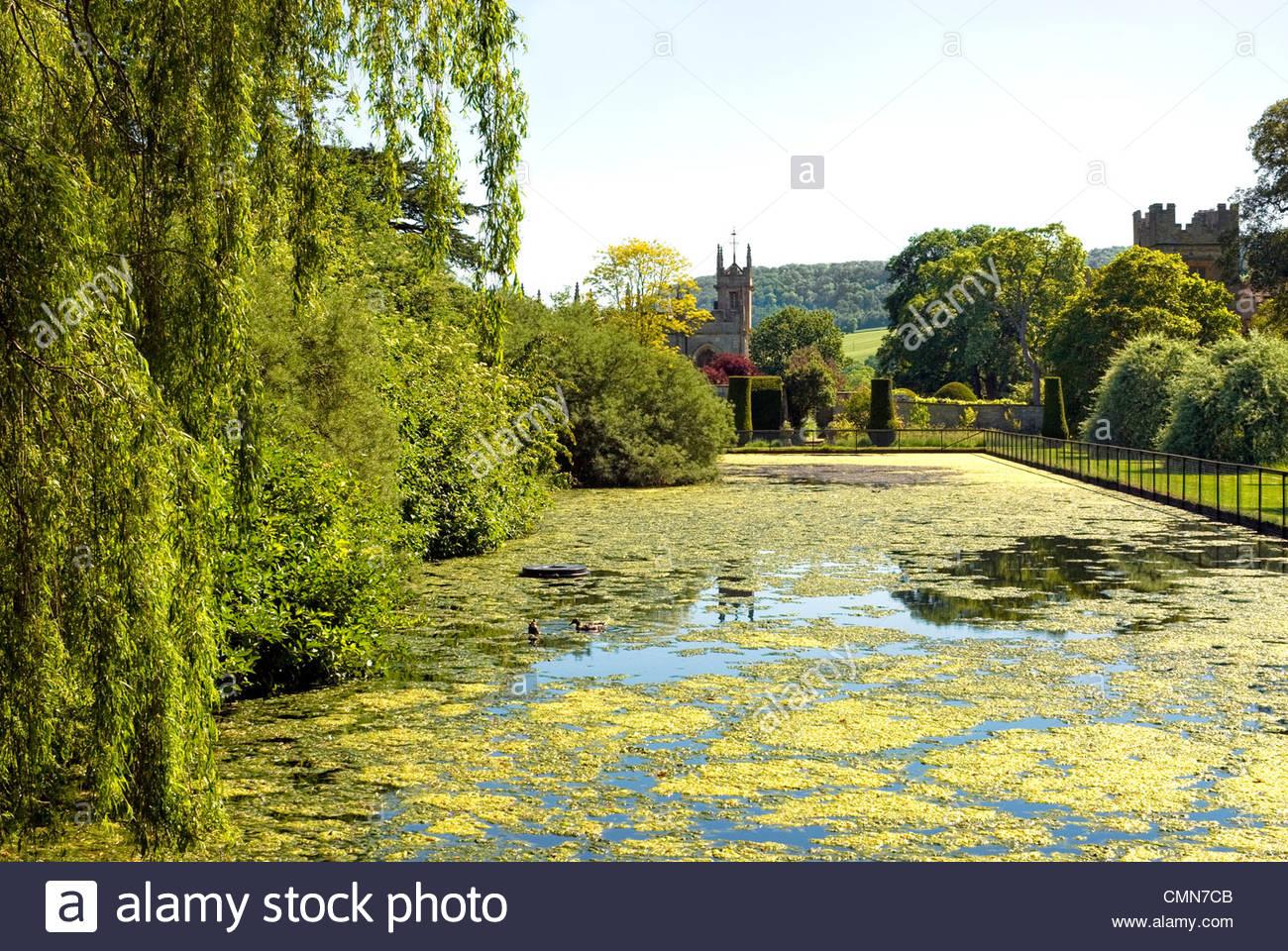 Garden at Sudeley Castle, Winchcombe, Gloucestershire, England. - Stock Image