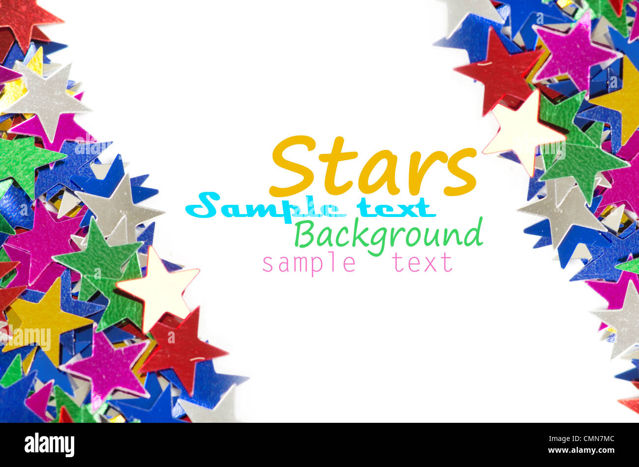Colored stars background for your text on photo, and other. - Stock Image