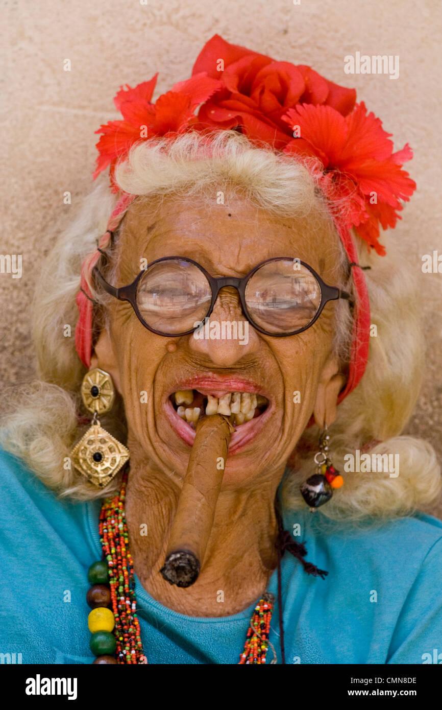 Funny Grey Hair Glasses And Bad Teeth