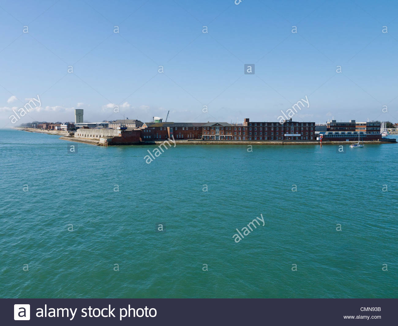 Haslar Naval Base Dive School and Hospital Gosport From Portsmouth Round Tower England UK - Stock Image