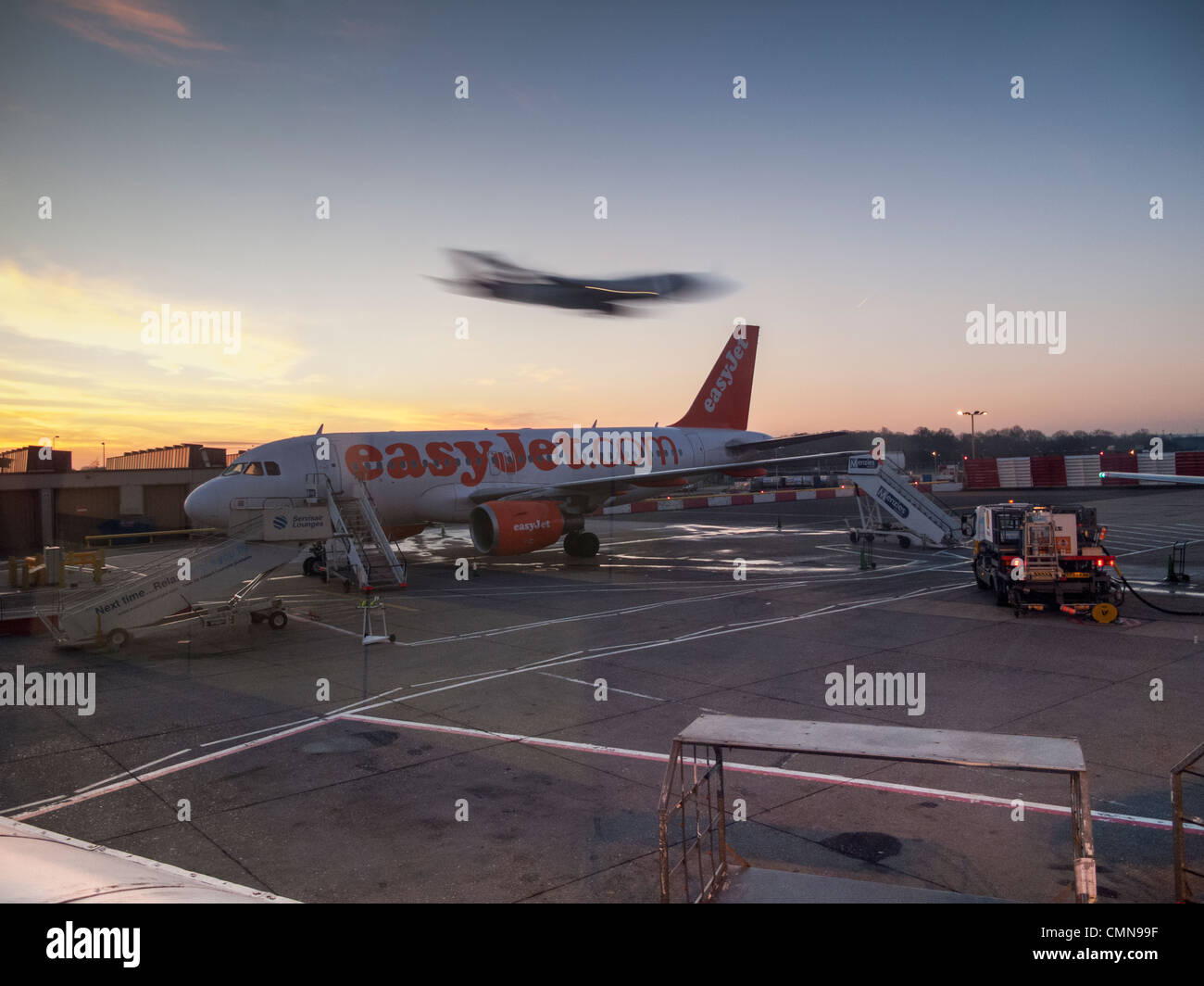 Easyjet aircraft,Gatwick Airport,London,England - Stock Image
