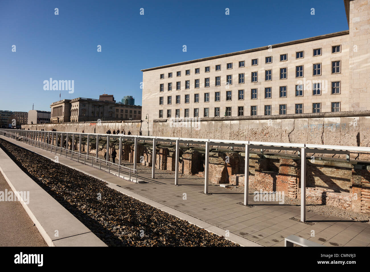 Berlin,The Topography of Terror Museum,Germany - Stock Image