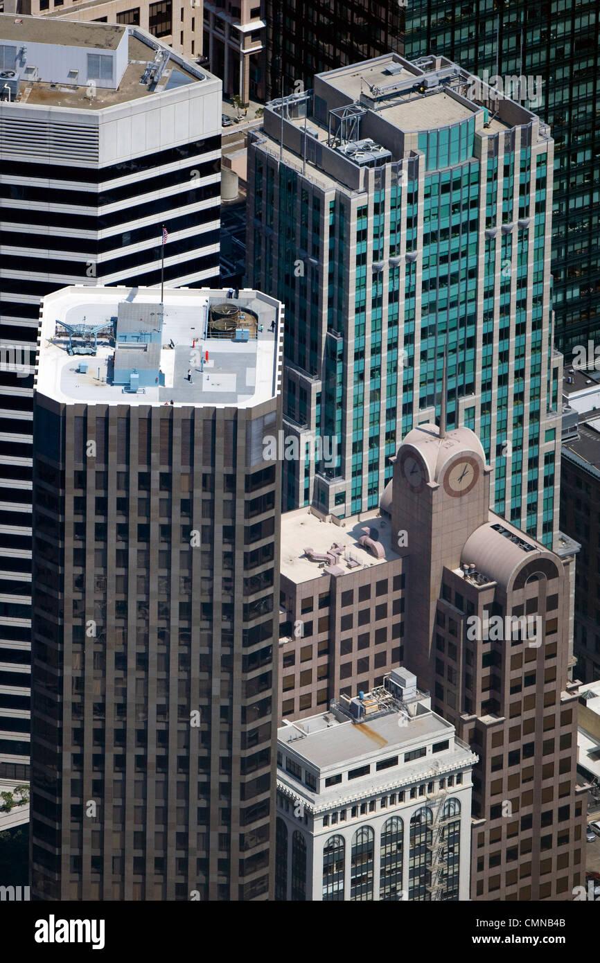 Aerial Photograph 55 Second Street McKesson Plaza33 New Montgomery 595 Market Skyscrapers San Francisco
