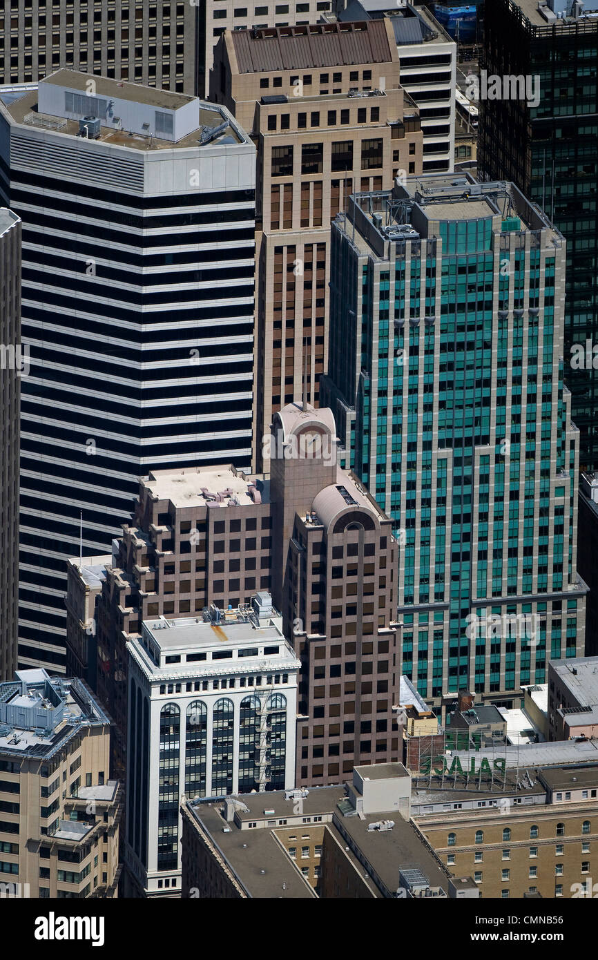 Aerial Photograph 33 New Montgomery Street 55 Second 595 Market Skyscrapers San Francisco