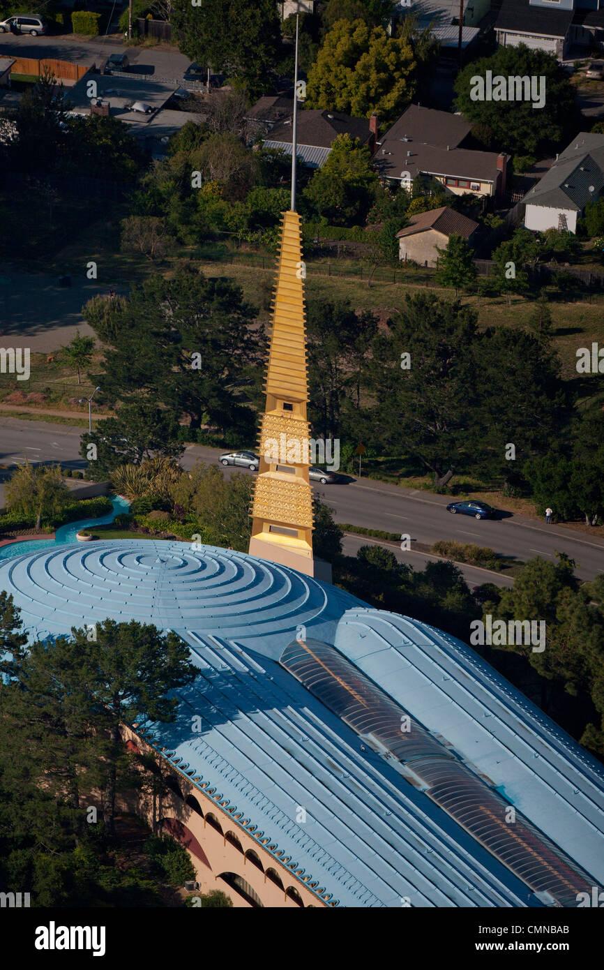 aerial photograph Marin County Civic Center, San Rafael, California - Stock Image