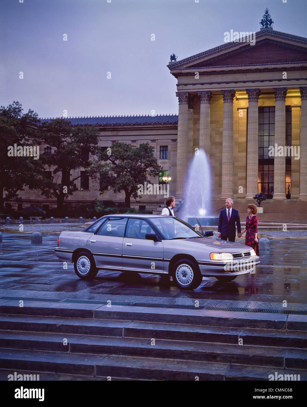 Subaru In Front Of Philadelphia Museum Of Art Stock Photo Alamy