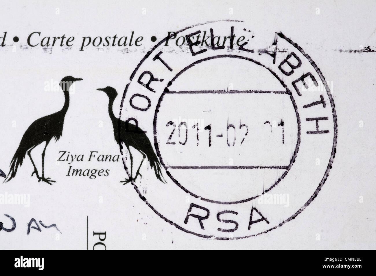 Port Elizabeth postmark - Stock Image